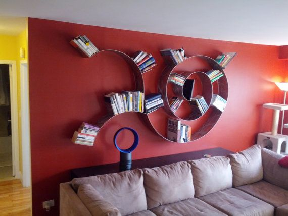 Trailing Spiral Bookshelf by KufaDesigns on Etsy