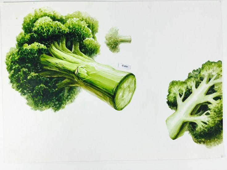 Brócoli dibujado