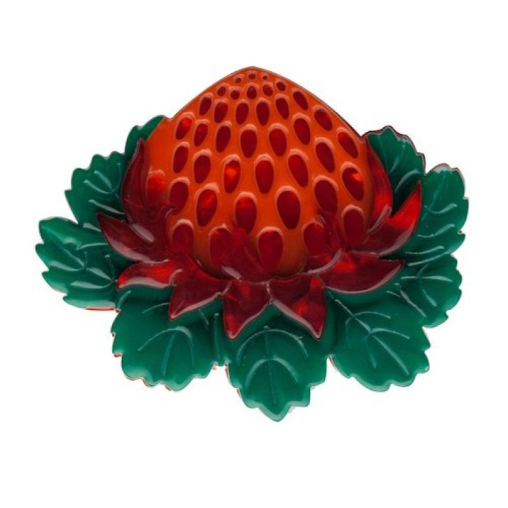 Erstwilder Telopea Waratah Brooch on Velvet Rose's Pin Up Dressing Room - The vintage shop tailored to you #Erstwilder FREE POSTAGE WITHIN AUSTRALIA AUD$40.00