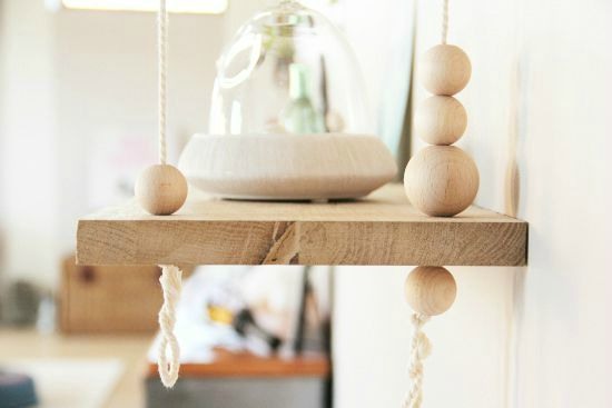 étagère perle bois
