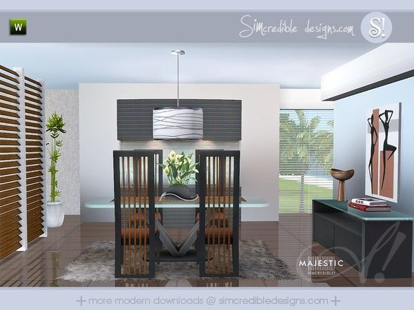 Majestic modern classy dining room by simcredible designs for Sims 3 dining room ideas