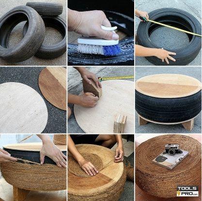 comment faire une table avec un vieux pneu nous vous expliquons aujourd 39 hui comment recycler un. Black Bedroom Furniture Sets. Home Design Ideas