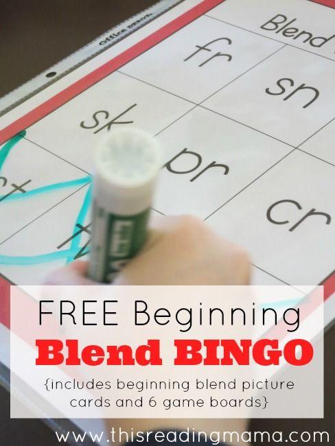 Beginning Blend BINGO - Free!   Free Homeschool Deals ©