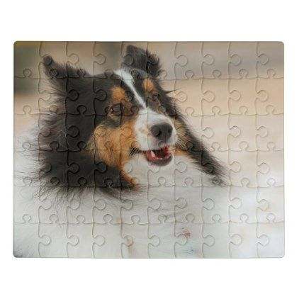 #Happy shelty jigsaw puzzle - #cute #gifts #cool #giftideas #custom