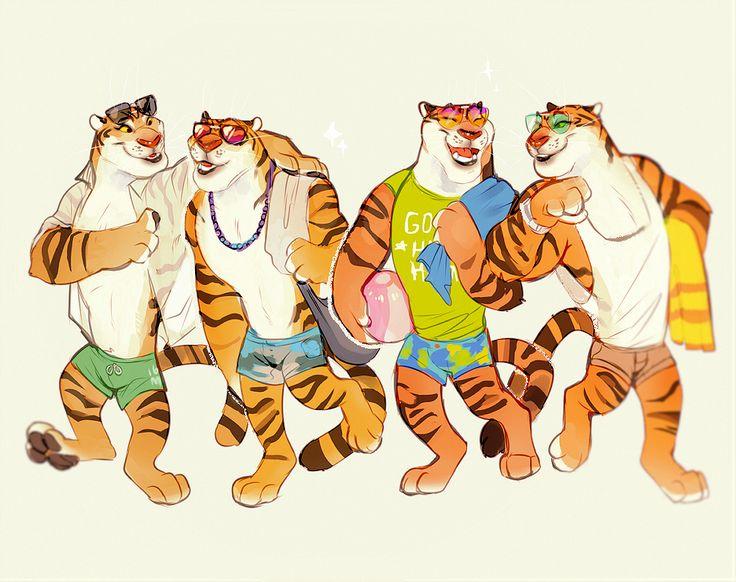 Картинка тигра из зверополиса