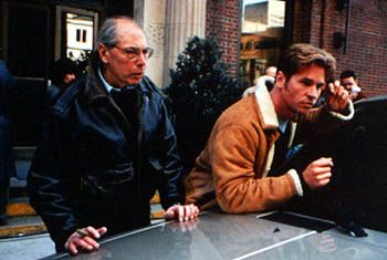 Director/Producer Irwin Winkler and Val Kilmer on the set of At First Sight