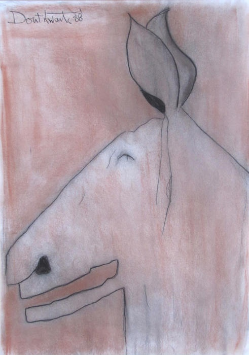 Laughing Donkey, 1988, Pastel, Pat Douthwaite - The Scottish Gallery, Edinburgh - Contemporary Art Since 1842