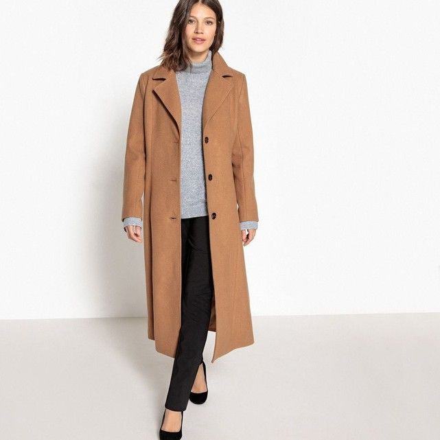 2cb8ce27a32b0 Manteau long en drap de laine LA REDOUTE COLLECTIONS   La Redoute in ...