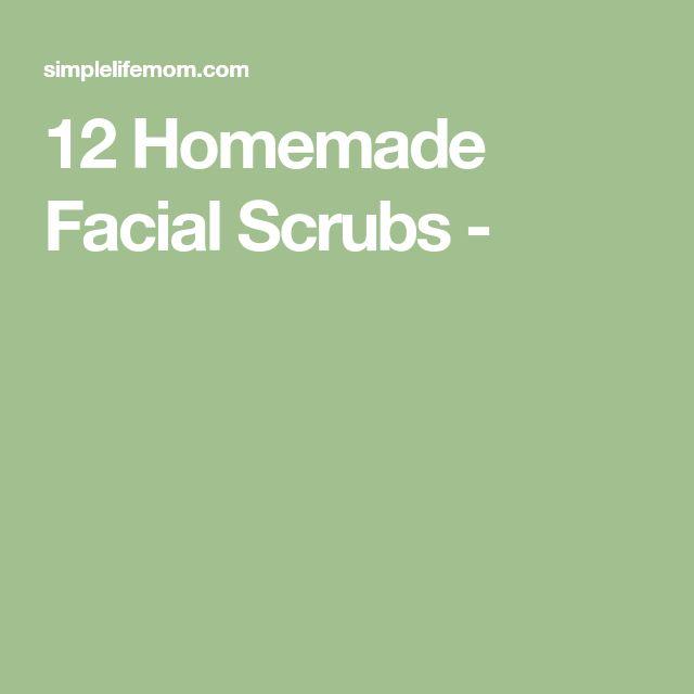 12 Homemade Facial Scrubs -