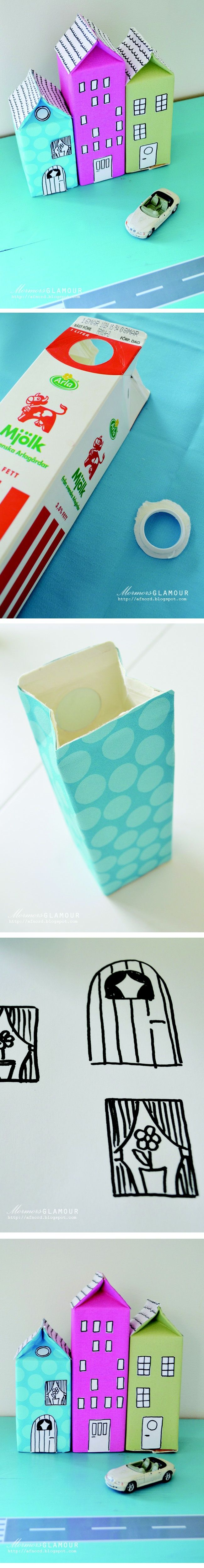 Upcycle your milkboxes - Fun to do with kids