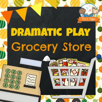 Pretend Play Grocery Store Printable Kit