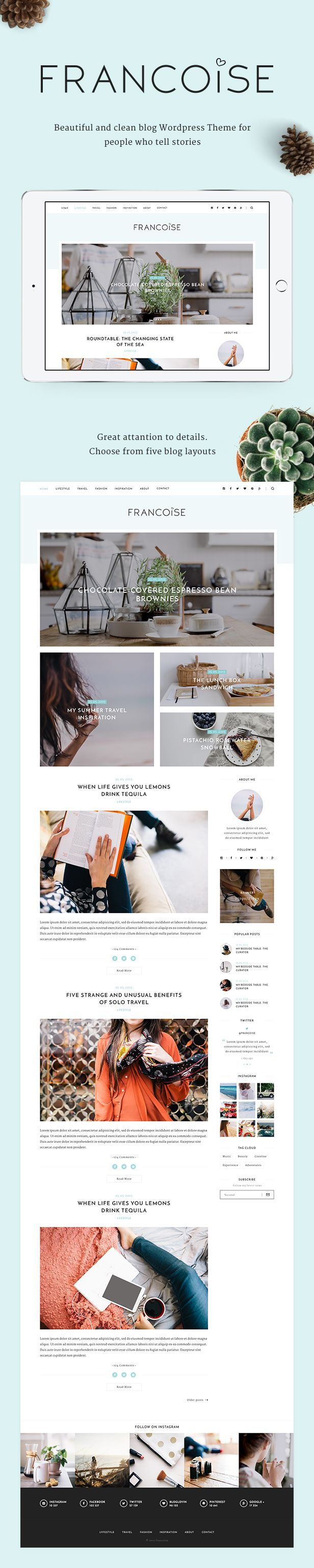 Francoise - Personal WordPress Blog Theme - WordPress | ThemeForest