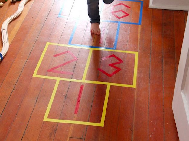 The cheapest, easiest way to bring a piece of the playground indoors. | 31 Ways To Make Your House A Kid's Paradise
