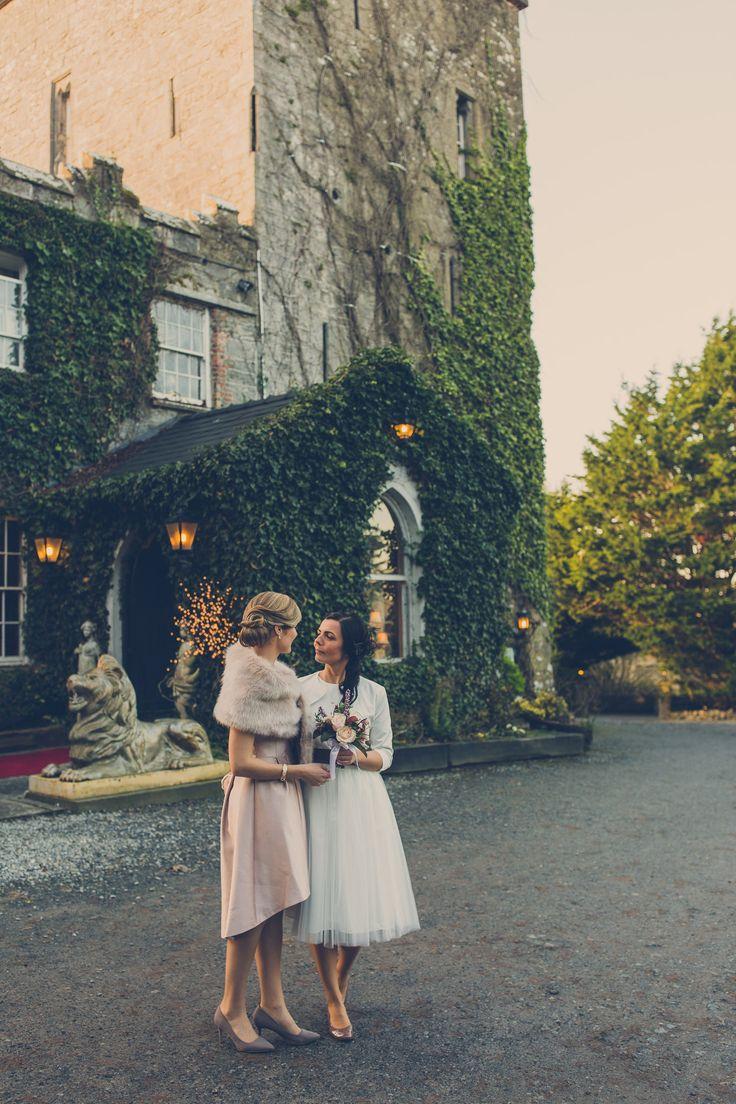 interesting wedding venues ireland%0A Christmas  same sex wedding  Ireland  Cloonacauneen Castle wedding  jpg