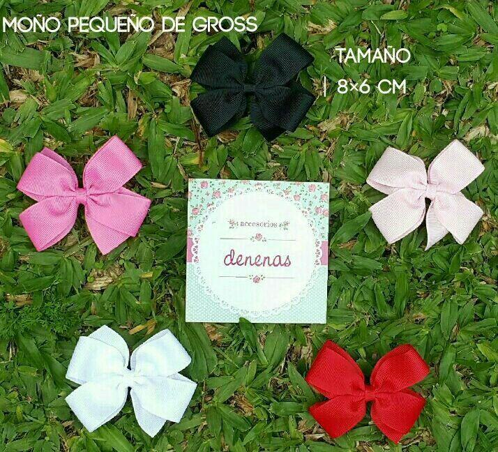 Moño pequeño gross. Rojo - blanco - rosa chicle - negro -  rosa claro - Moños para niñas - Bows for girls #accesorios para nenas @denenasaccesorios