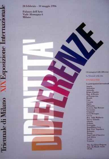 XIX Triennale di Milano, 1996