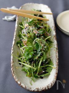 ごま香る九条ねぎと三つ葉のサラダ