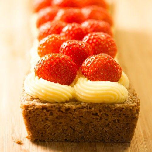 Aardbeien cake