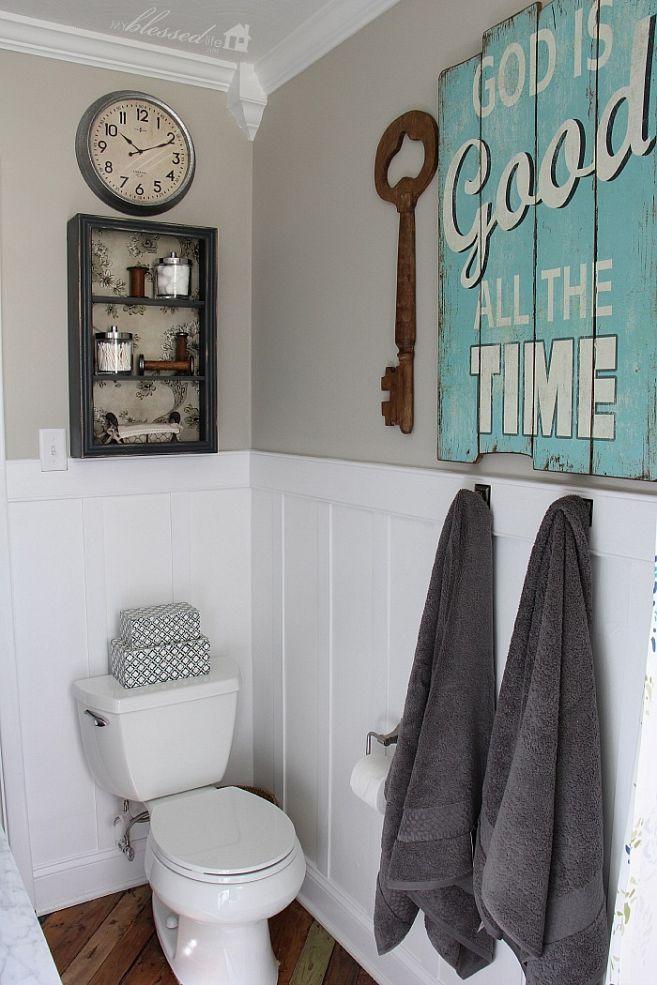 Cladding: Hometalk :Cottage-Style Bathroom Makeover