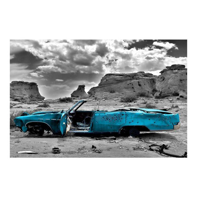 Vliestapete Premium Breit »Türkiser Cadillac« #Products
