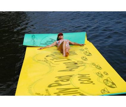 Aqua Lily Pad Water Mat | LAKE TIME? Aqua Lily Pad floating water mat, relax & recreation is a ...