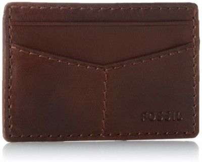Carteira Fossil Men's Carson Slim Card Case, Brown, One Size #Carteira #Fossil