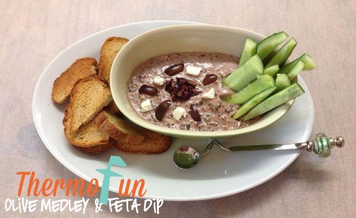 ThermoFun – Olive Medley and Feta Dip Recipe
