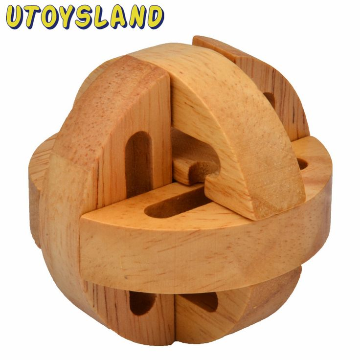 Utoysland Puzzle Brain Training Toys Kong Ming Lock Lu ban Locks Destiny Wooden Puzzle Educational Toy for Kids Children Adult