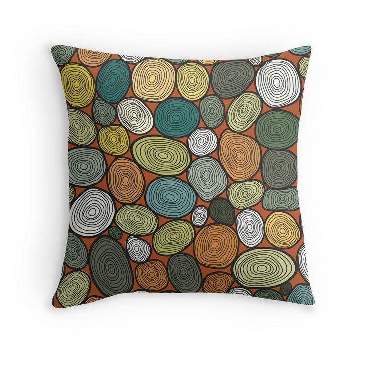 """""""Seamless circles hand-drawn pattern, circles background."""" Throw Pillows by smotrivnebo   Redbubble"""