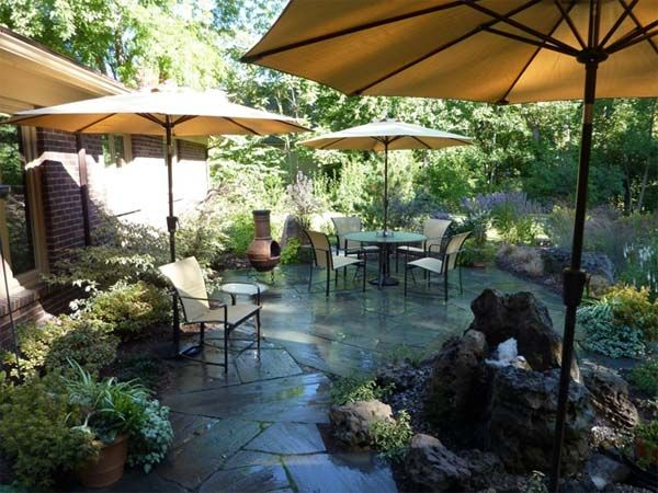 157 best beautiful back yards images on pinterest patio - Garden patio ideas pictures ...