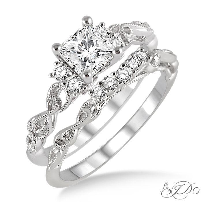 parkers karat patch jewelers i do collection bridal engagement set 15723fhwg - Wedding Set Rings