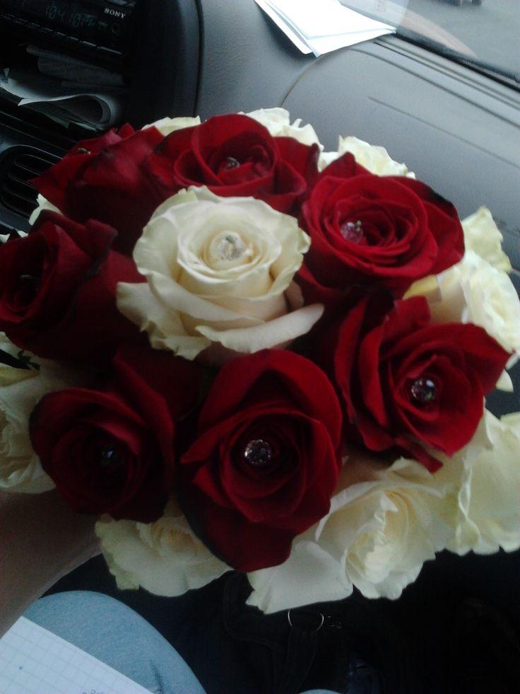Ramo rosas para novia