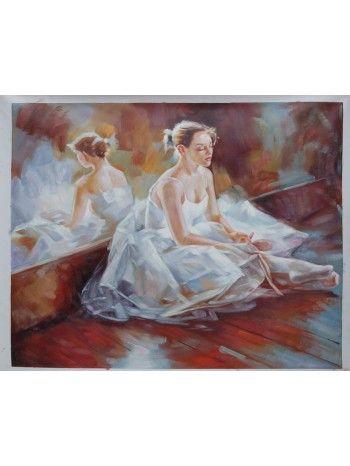 quadro a olio su tela stampata con telaio dipinto a mano.