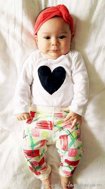diy baby clothing.  could do this for non-babies too!