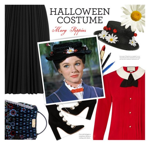 """Mary Poppins"" by catchsomeraes ❤ liked on Polyvore featuring Astraet, Gucci, Fendi, L'Oréal Paris, Urban Decay, Stila and Valentino"