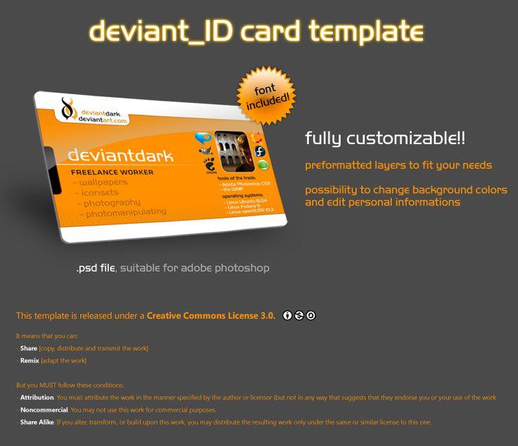 deviant_ID Card Template by ~deviantdark on deviantART