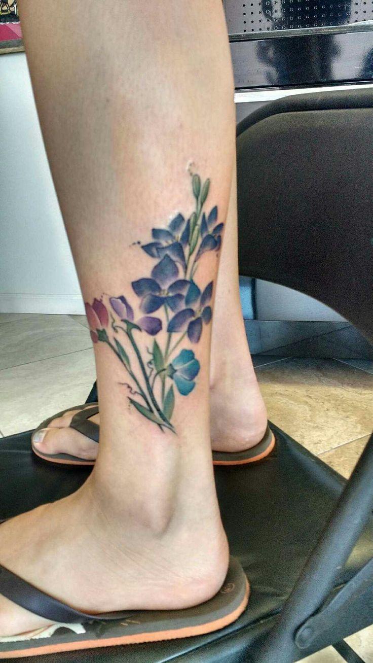 Best 25 larkspur tattoo ideas on pinterest for Sweet pea tattoo