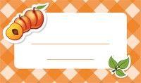 Jam label - apricots Befőzőcímke - sárgabarack