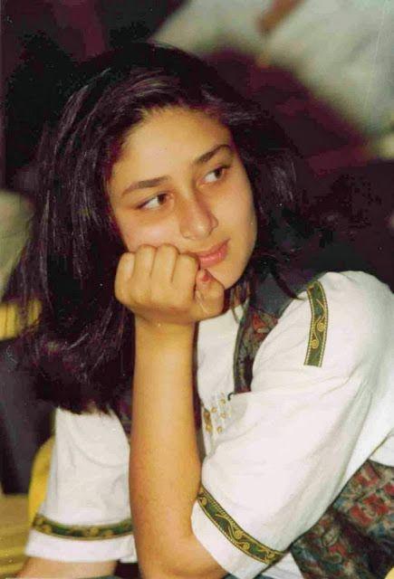 Cute childhood Stills of kareena kapoor