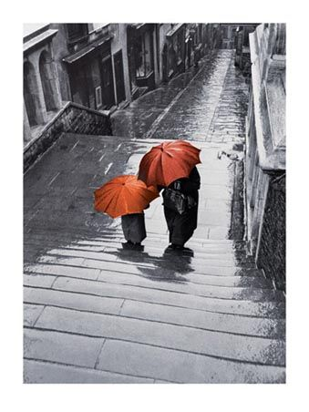 When you elaborate, you STOP THE ACTION and observe. Use your five senses. Write a 3-5 sentence elaborative segment of this setting (the people and umbrellas are part of this setting). Tell what you saw, heard, and felt. Do NOT write a grocery list. Use interesting words and make it entertaining!