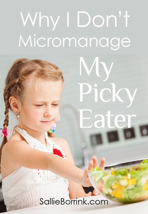There are lots of valid reasons why a child (or adult) can be a picky eater. Here are the reasons why I don't micromanage my picky eater.