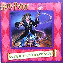 "Harry Potter ""Hermione Casts Wingardium Leviosa Spell!"" UK Christmas Card Imported from England"