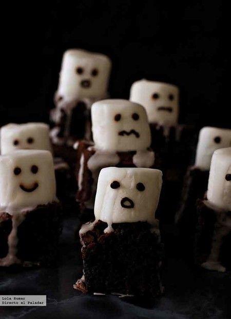 Brownies fantasmales.