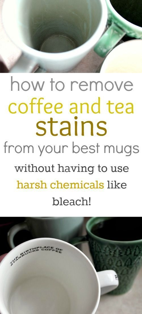 How to remove coffee and tea stains from mugs naturally! - The Creek Line House