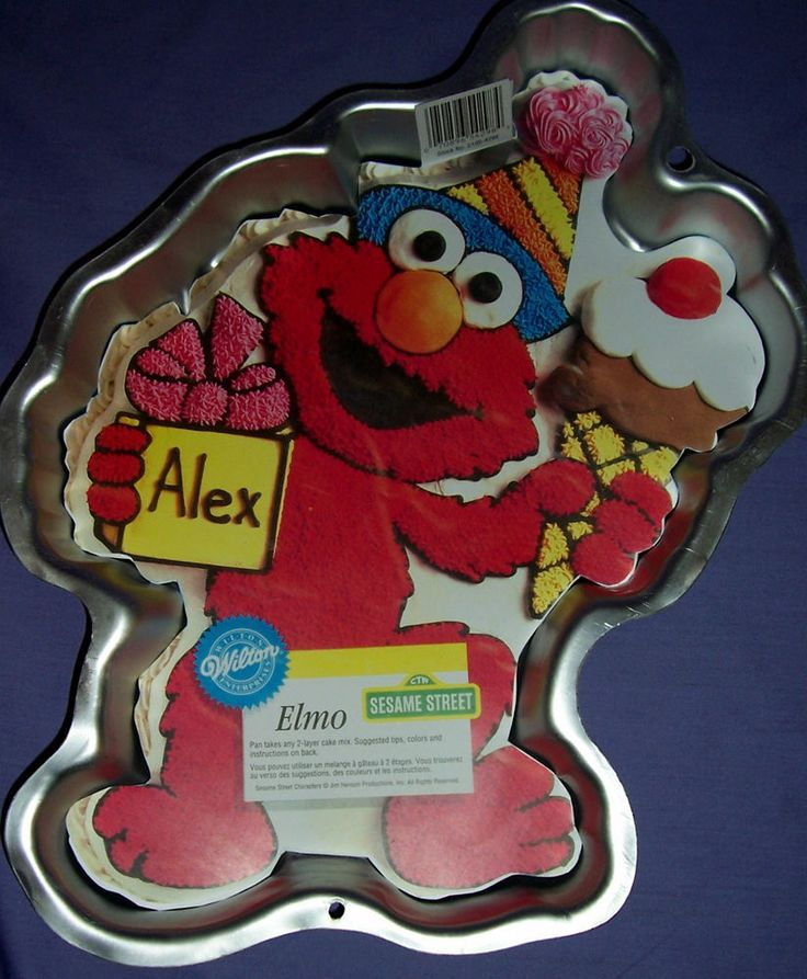 Elmo Cake Decorating Instructions : Details about WILTON ELMO CAKE PAN CAKE TIN - EUC ...