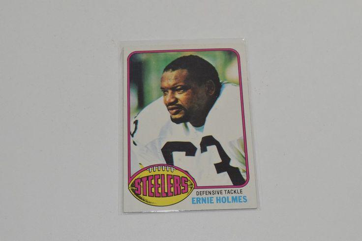 1976 Topps #9 Ernie Holmes Pittsburgh Steelers Football Card