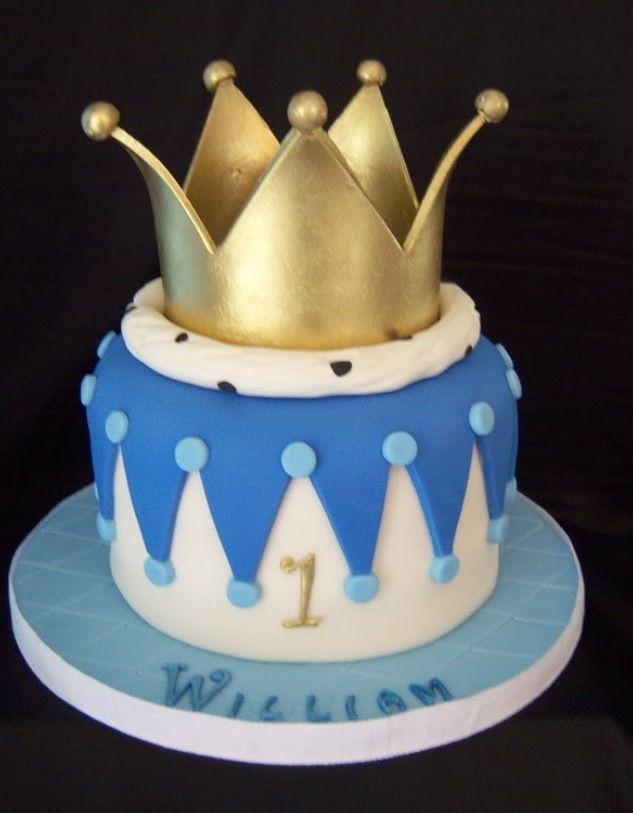 Cake Designs With Crown : Prince cake Bolos/Cakes/Pastel Pinterest Prince cake ...
