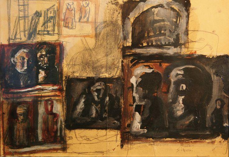 Composizione con teste ed edificio (1950) Mario Sironi