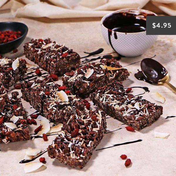 YouFoodz | Berry Ripe Protein Bar $4.95 | It's chocolatey, crackly and loaded with the goodness of protein, goji berries, cranberries and coconut | #Youfoodz #HomeDelivery #YoullNeverEatFrozenAgain