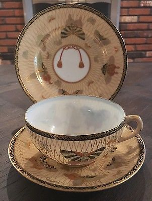 Japanese eggshell porcelain teacup and saucers • £0.99 - PicClick UK